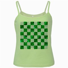Square1 White Marble & Green Marble Green Spaghetti Tank by trendistuff