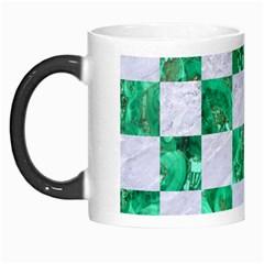 Square1 White Marble & Green Marble Morph Mugs by trendistuff