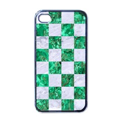 Square1 White Marble & Green Marble Apple Iphone 4 Case (black) by trendistuff