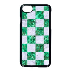 Square1 White Marble & Green Marble Apple Iphone 8 Seamless Case (black) by trendistuff