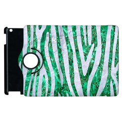 Skin4 White Marble & Green Marble (r) Apple Ipad 2 Flip 360 Case by trendistuff
