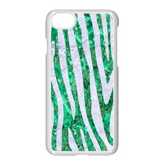 Skin4 White Marble & Green Marble (r) Apple Iphone 8 Seamless Case (white)