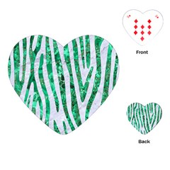 Skin4 White Marble & Green Marble Playing Cards (heart)