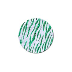 Skin3 White Marble & Green Marble (r) Golf Ball Marker by trendistuff