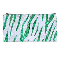 Skin3 White Marble & Green Marble (r) Pencil Cases by trendistuff