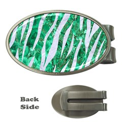 Skin3 White Marble & Green Marble Money Clips (oval)
