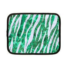 Skin3 White Marble & Green Marble Netbook Case (small)  by trendistuff