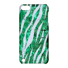 Skin3 White Marble & Green Marble Apple Ipod Touch 5 Hardshell Case With Stand