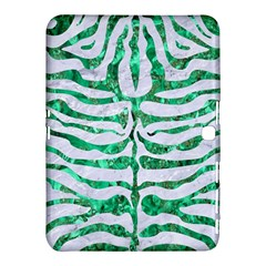 Skin2 White Marble & Green Marble (r) Samsung Galaxy Tab 4 (10 1 ) Hardshell Case  by trendistuff