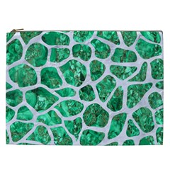Skin1 White Marble & Green Marble (r) Cosmetic Bag (xxl) by trendistuff