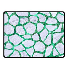 Skin1 White Marble & Green Marble Fleece Blanket (small) by trendistuff