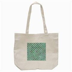 Scales3 White Marble & Green Marble (r) Tote Bag (cream) by trendistuff