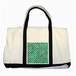 SCALES3 WHITE MARBLE & GREEN MARBLE Two Tone Tote Bag Front