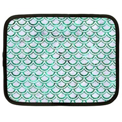 Scales2 White Marble & Green Marble (r) Netbook Case (xxl)  by trendistuff