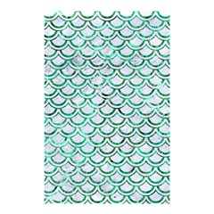 Scales2 White Marble & Green Marble (r) Shower Curtain 48  X 72  (small)  by trendistuff