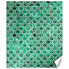 Scales2 White Marble & Green Marble Canvas 8  X 10  by trendistuff