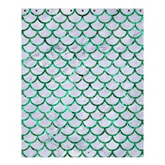 Scales1 White Marble & Green Marble (r) Shower Curtain 60  X 72  (medium)  by trendistuff