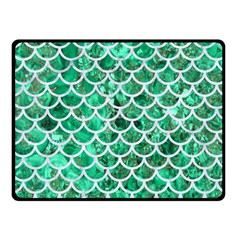 Scales1 White Marble & Green Marble Fleece Blanket (small) by trendistuff