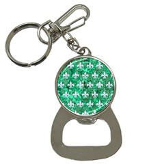 Royal1 White Marble & Green Marble (r) Bottle Opener Key Chains