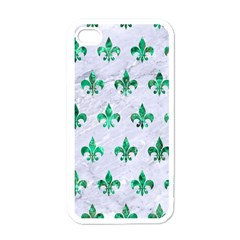 Royal1 White Marble & Green Marble Apple Iphone 4 Case (white) by trendistuff