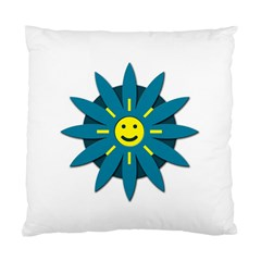 Smiley Flower Standard Cushion Case (two Sides) by linceazul