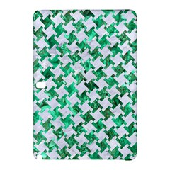 Houndstooth2 White Marble & Green Marble Samsung Galaxy Tab Pro 10 1 Hardshell Case by trendistuff