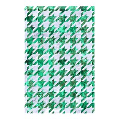 Houndstooth1 White Marble & Green Marble Shower Curtain 48  X 72  (small)  by trendistuff