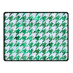Houndstooth1 White Marble & Green Marble Double Sided Fleece Blanket (small)  by trendistuff