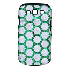 Hexagon2 White Marble & Green Marble (r) Samsung Galaxy S Iii Classic Hardshell Case (pc+silicone) by trendistuff
