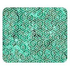 Hexagon1 White Marble & Green Marble Double Sided Flano Blanket (small)  by trendistuff