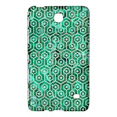 Hexagon1 White Marble & Green Marble Samsung Galaxy Tab 4 (8 ) Hardshell Case  by trendistuff