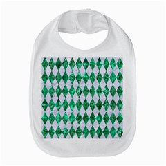 Diamond1 White Marble & Green Marble Bib