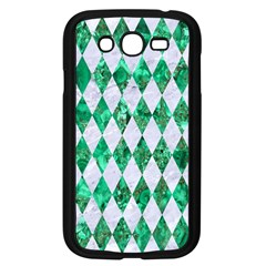 Diamond1 White Marble & Green Marble Samsung Galaxy Grand Duos I9082 Case (black) by trendistuff