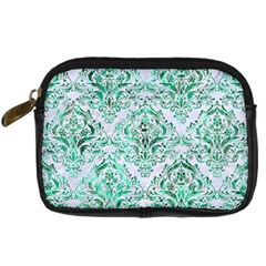 Damask1 White Marble & Green Marble (r) Digital Camera Cases by trendistuff