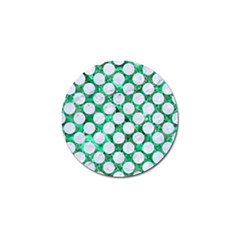 Circles2 White Marble & Green Marble Golf Ball Marker by trendistuff
