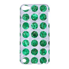 Circles1 White Marble & Green Marble (r) Apple Ipod Touch 5 Hardshell Case by trendistuff