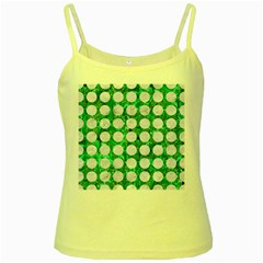 Circles1 White Marble & Green Marble Yellow Spaghetti Tank by trendistuff