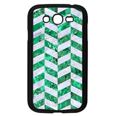 Chevron1 White Marble & Green Marble Samsung Galaxy Grand Duos I9082 Case (black) by trendistuff