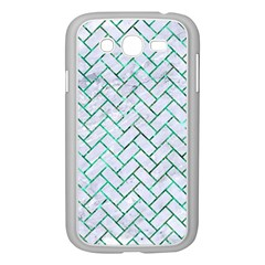 Brick2 White Marble & Green Marble (r) Samsung Galaxy Grand Duos I9082 Case (white) by trendistuff