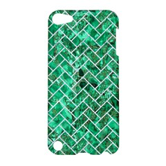 Brick2 White Marble & Green Marble Apple Ipod Touch 5 Hardshell Case by trendistuff