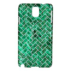 Brick2 White Marble & Green Marble Samsung Galaxy Note 3 N9005 Hardshell Case by trendistuff