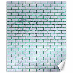 Brick1 White Marble & Green Marble (r) Canvas 20  X 24   by trendistuff