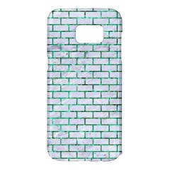 Brick1 White Marble & Green Marble (r) Samsung Galaxy S7 Edge Hardshell Case by trendistuff