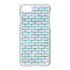 Brick1 White Marble & Green Marble (r) Apple Iphone 7 Seamless Case (white) by trendistuff