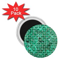 Brick1 White Marble & Green Marble 1 75  Magnets (10 Pack)  by trendistuff