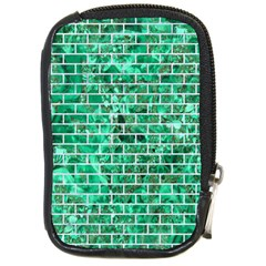 Brick1 White Marble & Green Marble Compact Camera Cases by trendistuff