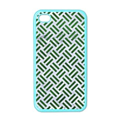 Woven2 White Marble & Green Leather (r) Apple Iphone 4 Case (color) by trendistuff