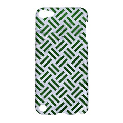 Woven2 White Marble & Green Leather (r) Apple Ipod Touch 5 Hardshell Case by trendistuff
