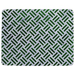 Woven2 White Marble & Green Leather (r) Jigsaw Puzzle Photo Stand (rectangular) by trendistuff