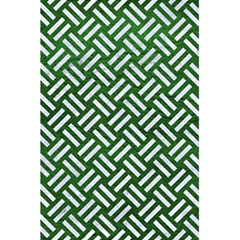 Woven2 White Marble & Green Leather 5 5  X 8 5  Notebooks by trendistuff